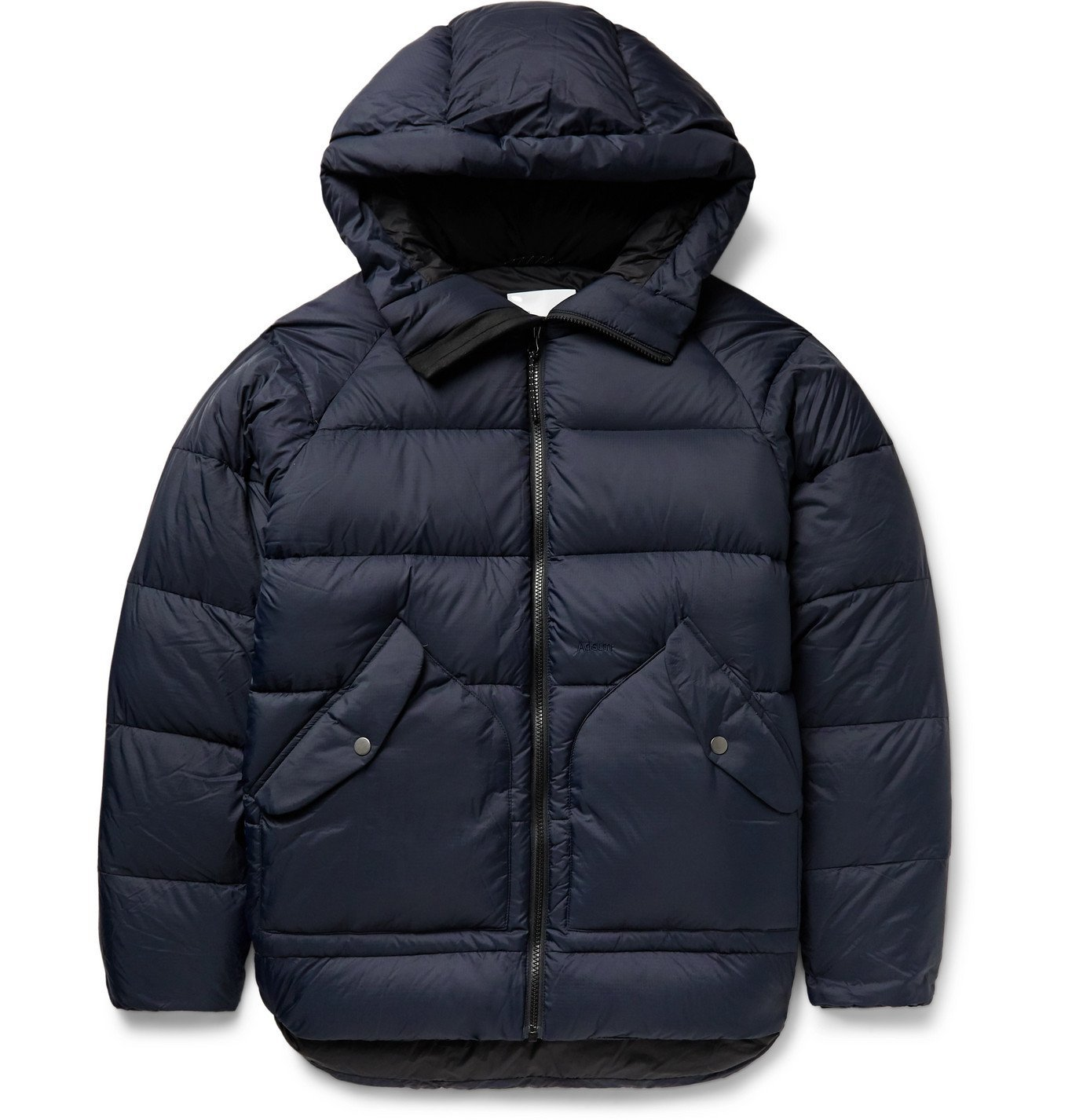 Photo: Adsum - Alpine Quilted Nylon-Ripstop Hooded Down Jacket - Blue