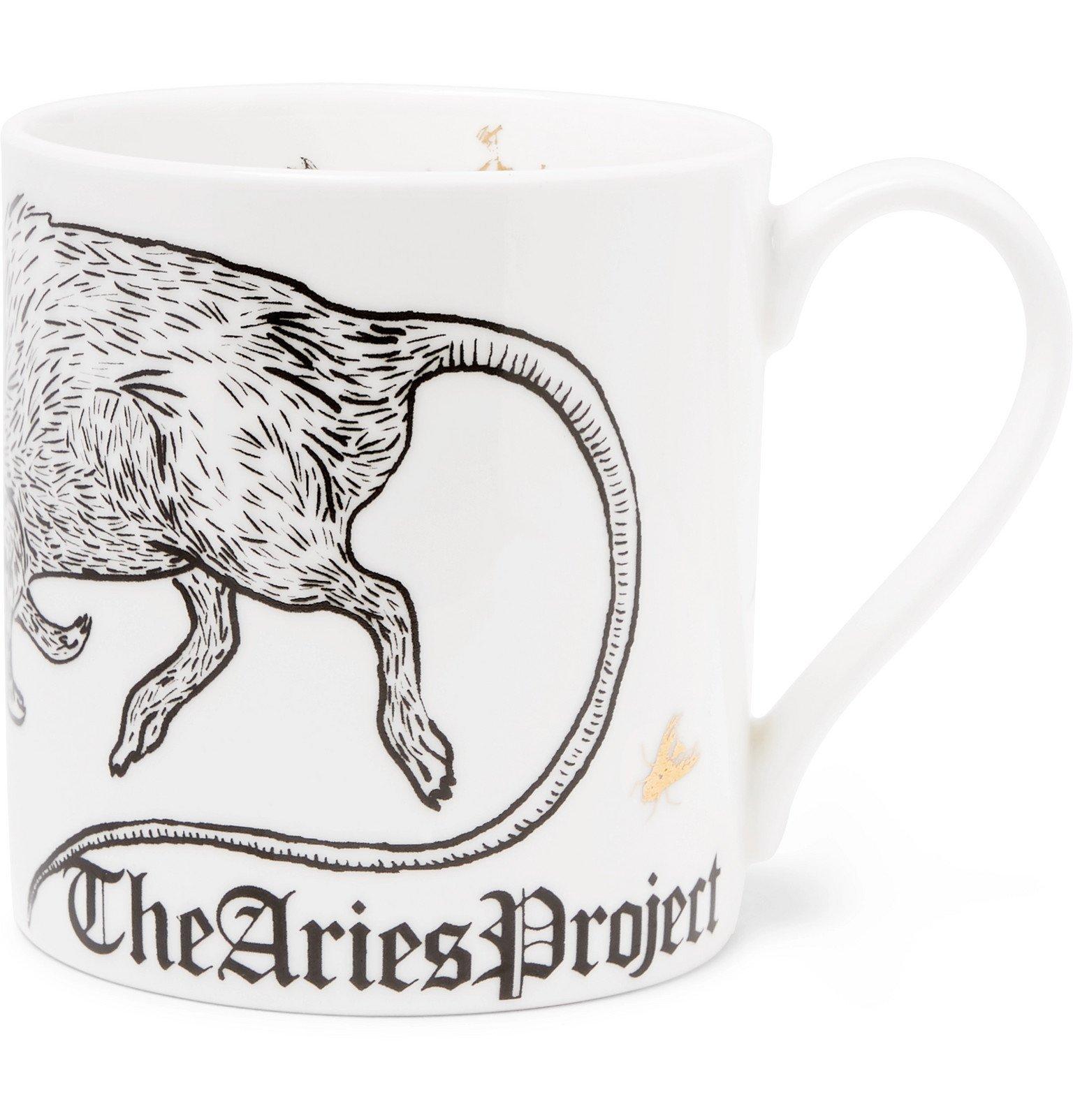 Aries - Printed Bone China Mug - White