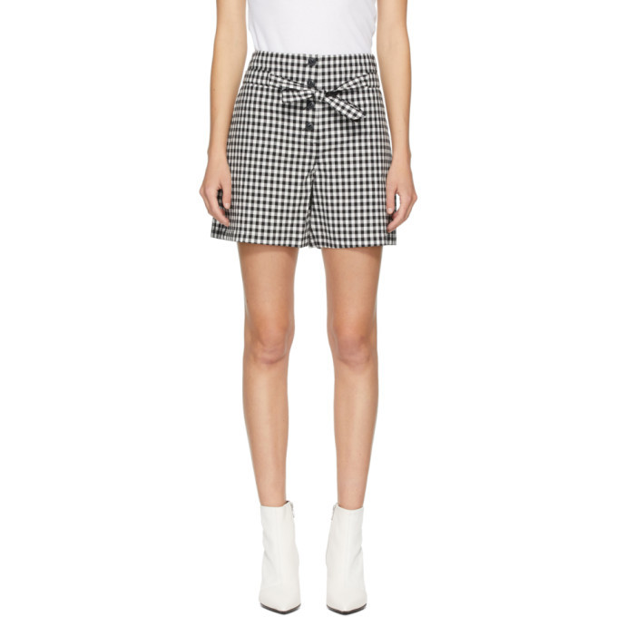 Photo: rag and bone Black and White Camille Shorts