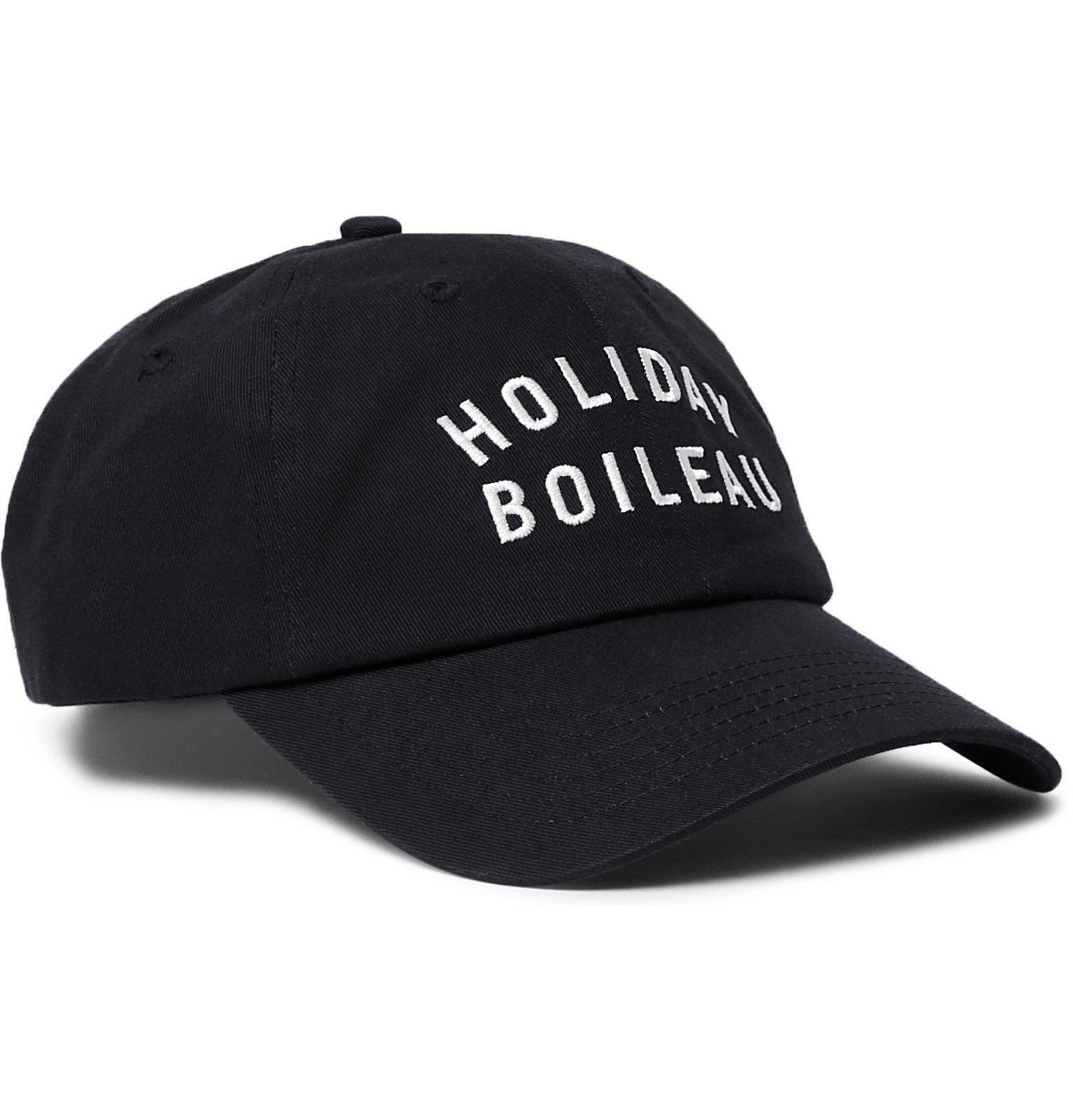 Photo: Holiday Boileau - Logo-Embroidered Cotton-Twill Baseball Cap - Blue