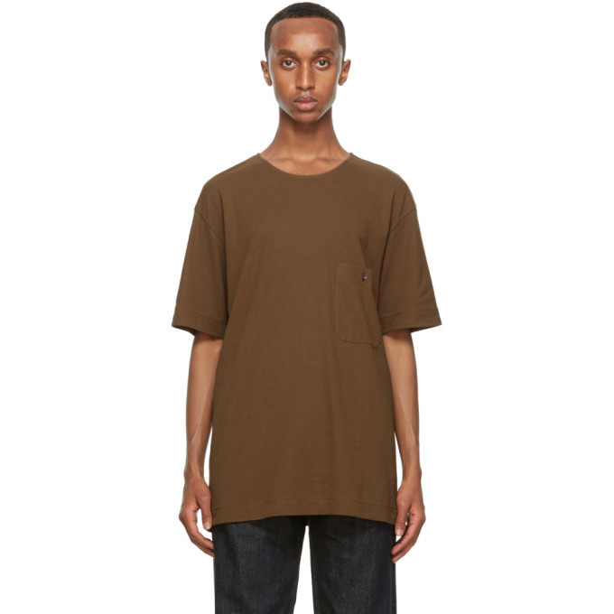 Photo: Lemaire Brown Crepe Jersey T-Shirt