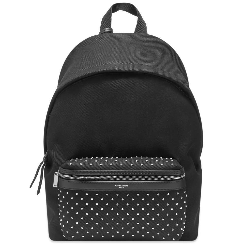 Photo: Saint Laurent Leather City Backpack With Removable Tassels