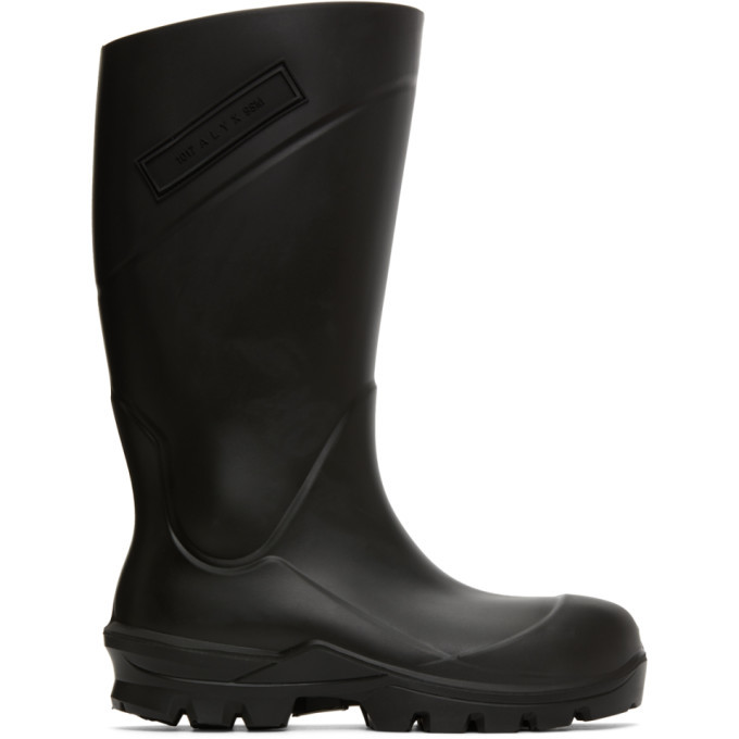 Photo: 1017 ALYX 9SM Black Logo Rain Boots
