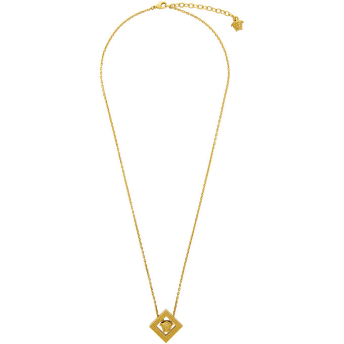 Photo: Versace Gold Rhombus Pendant Necklace