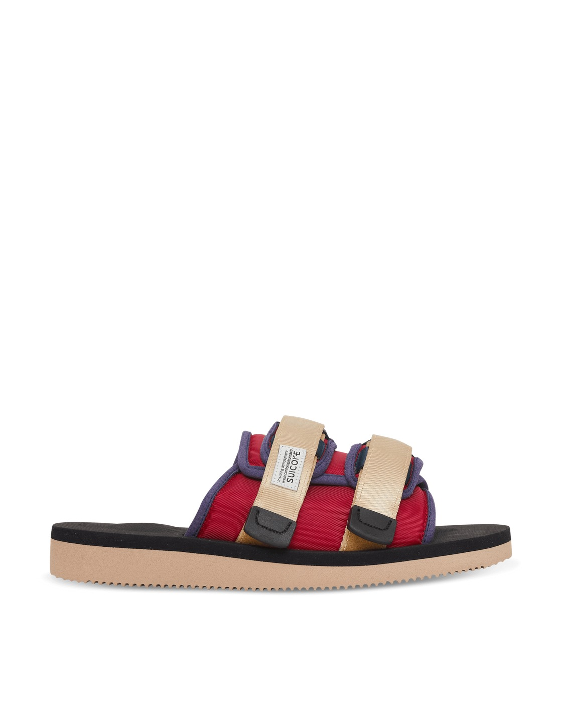 Photo: Suicoke Moto Cab Slippers Red / Black