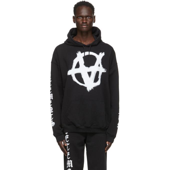 Photo: VETEMENTS Black Anarchy Gothic Logo Hoodie