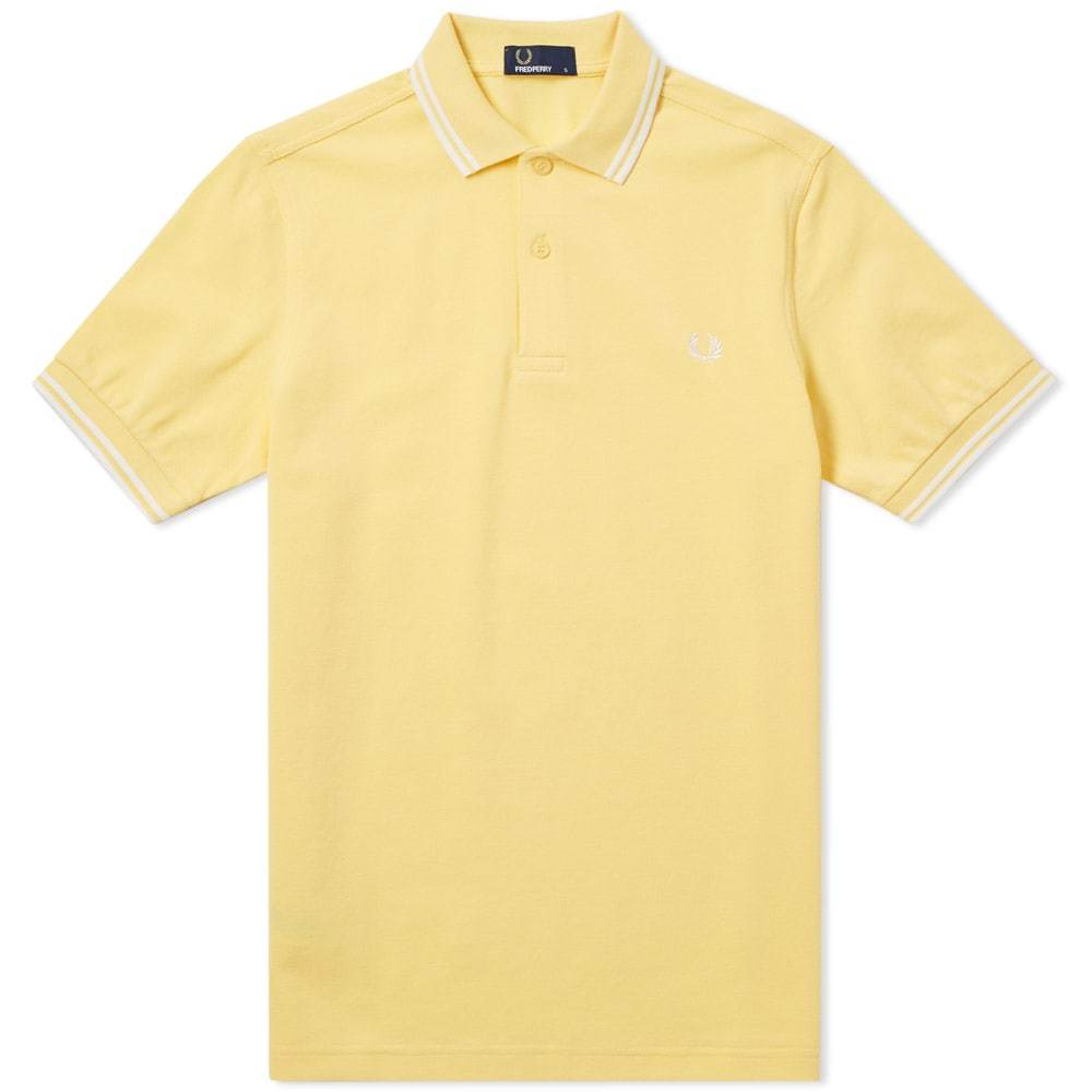Photo: Fred Perry Twin Tipped Polo Yellow