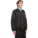 Raf Simons Reversible Black Detachable Liner Patched Bomber Jacket