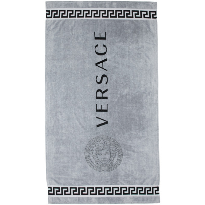 Photo: Versace Underwear Grey Logo Towel