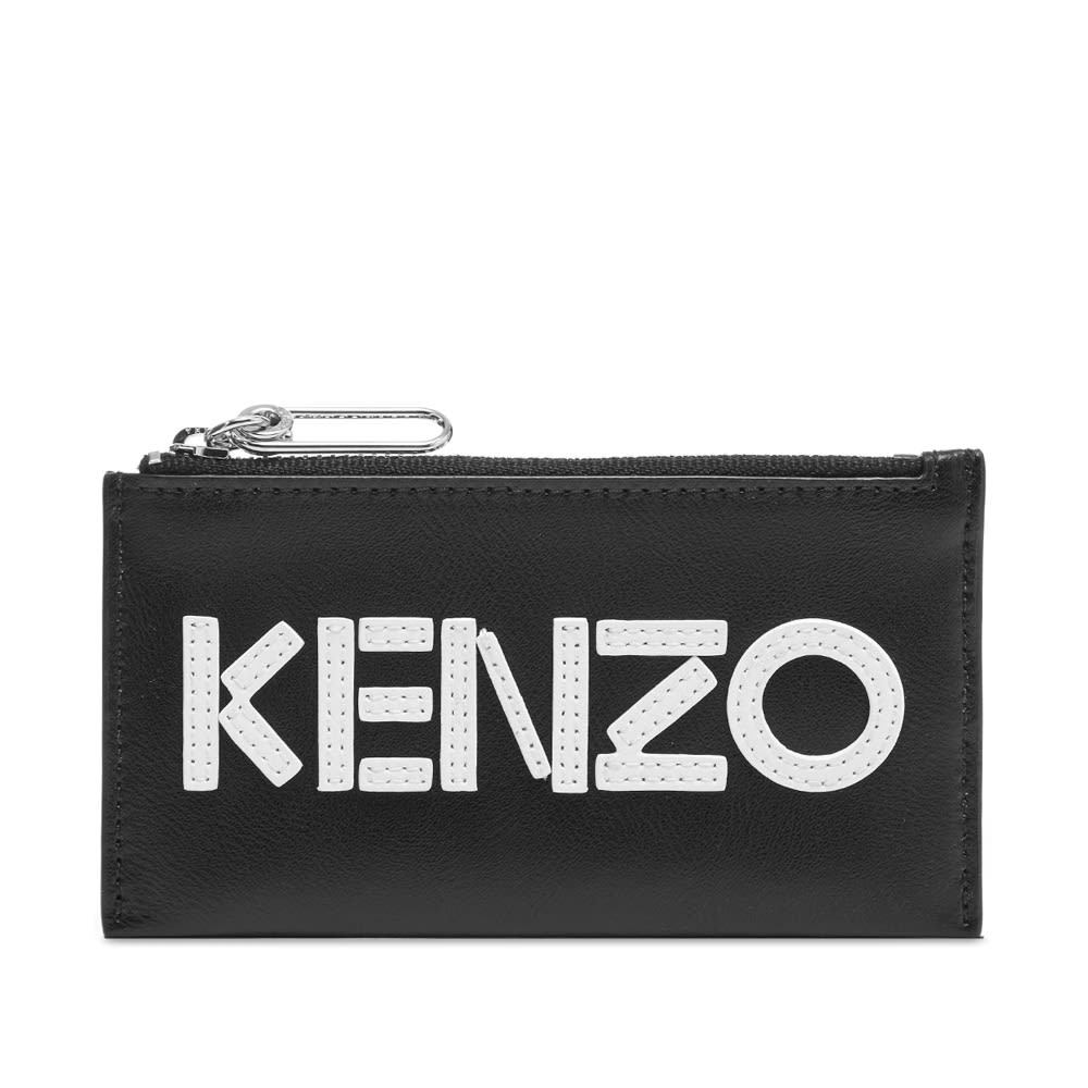 Photo: Kenzo Leather Logo Zip Card Wallet