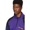 Martine Rose Purple and Black Twist Track Jacket