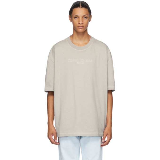 Photo: Maison Margiela Off-White Oversize Garment Dye T-Shirt