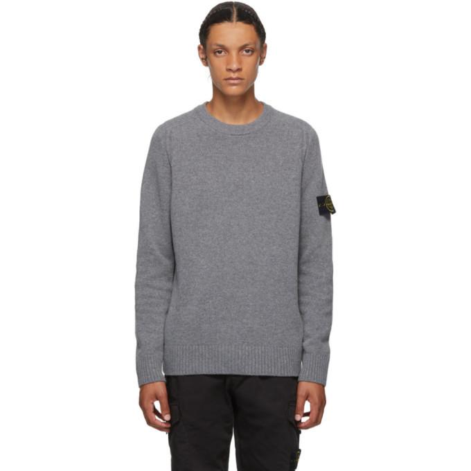 Photo: Stone Island Grey Wool Crewneck Sweater