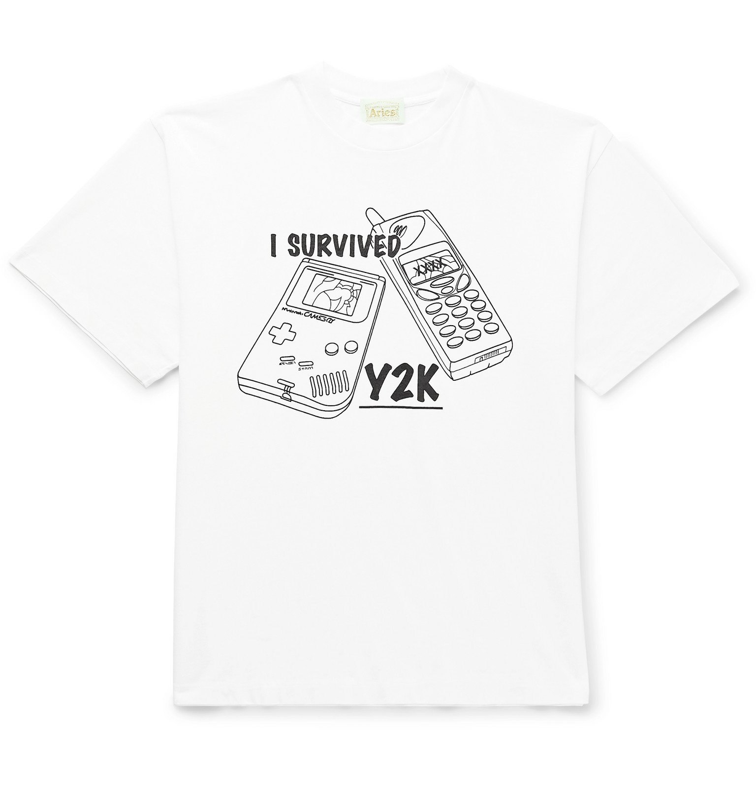 Aries - Printed Cotton-Jersey T-Shirt - White