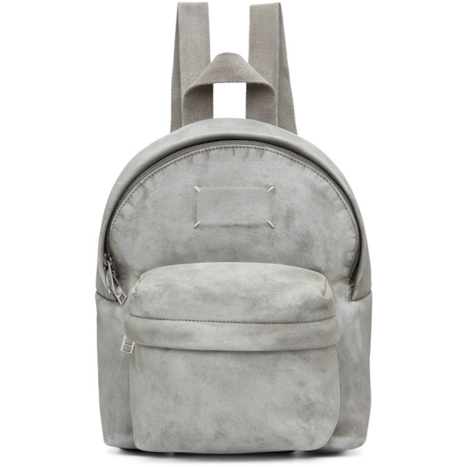 Photo: Maison Margiela White Mini Microsuede Backpack