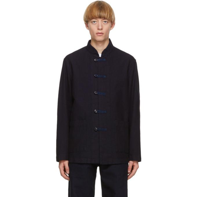 Photo: Blue Blue Japan Indigo Yarn-Dyed Sashiko Coverall Jacket