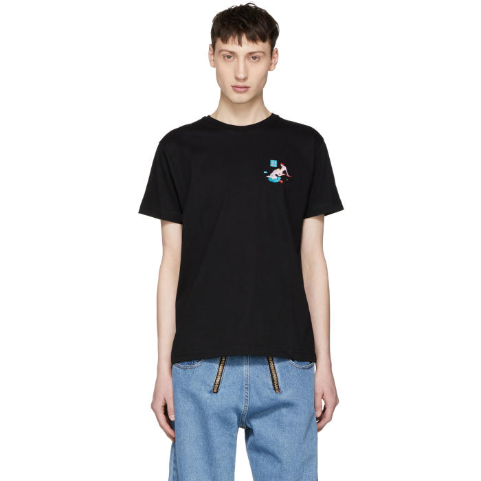 Photo: Carne Bollente Black Brasse Coulée Embroidered T-Shirt