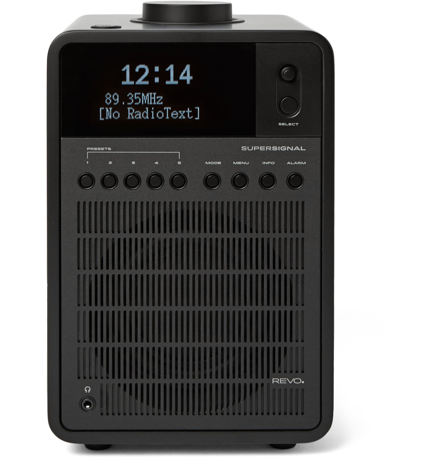 Photo: Revo - SuperSignal Walnut and Aluminium DAB/DAB/FM Table Radio - Black