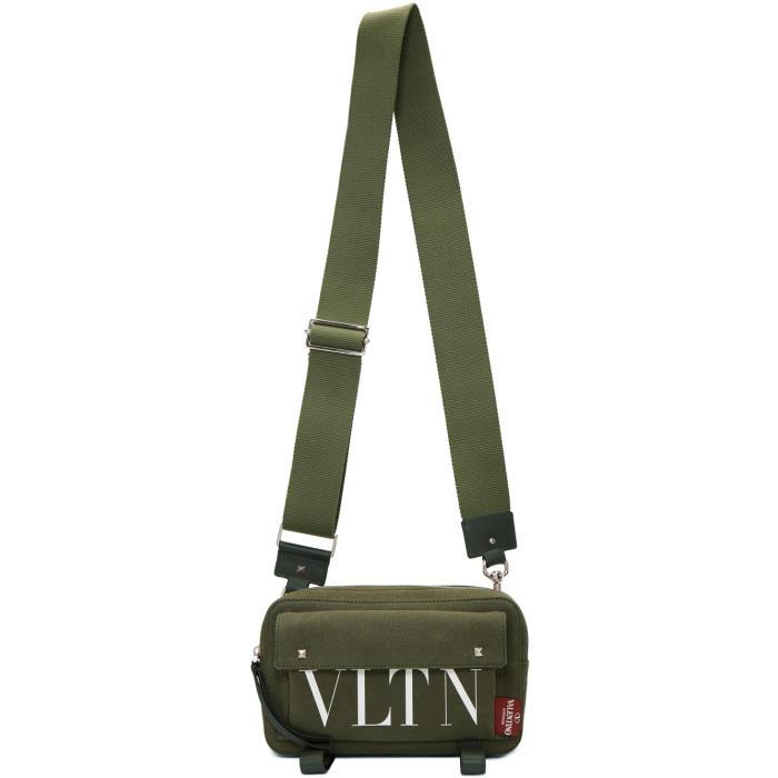 Photo: Valentino Green Valentino Garavani VTLN Khaki Body Bag