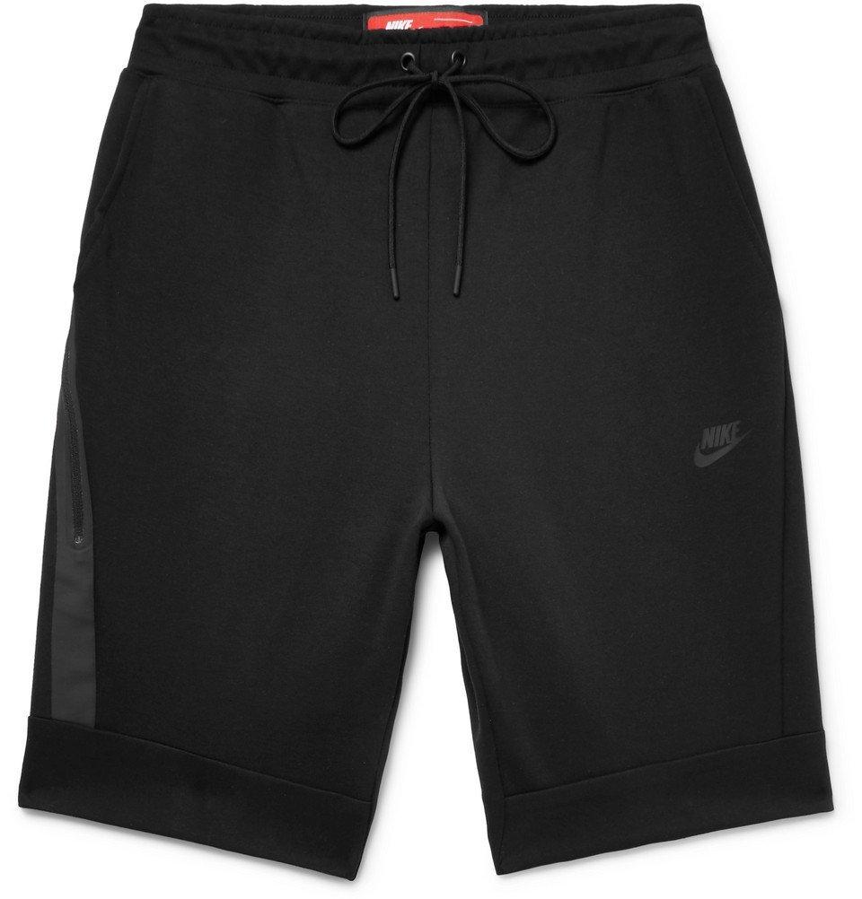 Nike - Cotton-Blend Tech Fleece Shorts - Men - Black