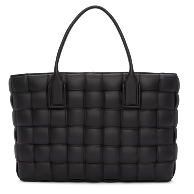 Photo: Bottega Veneta Black Large Maxi Intrecciato Tote