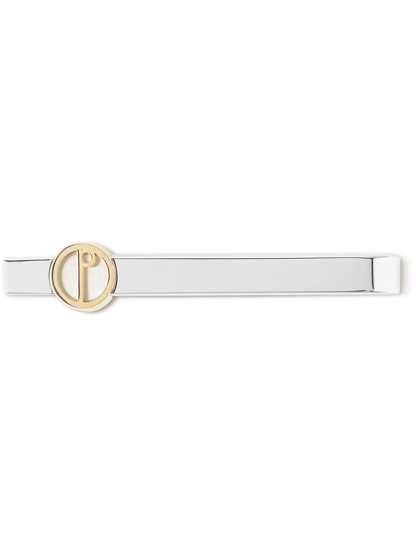 Dunhill - Rhodium-Plated and Gold-Tone Tie Clip