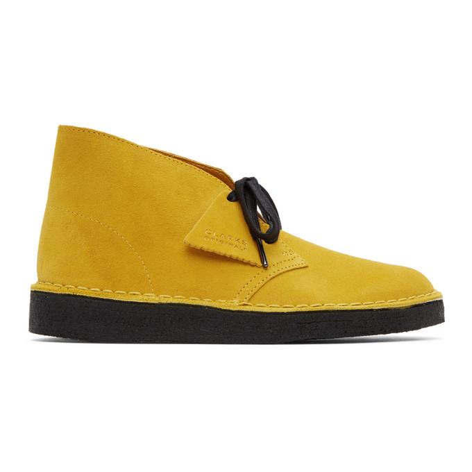Photo: Clarks Originals Yellow Suede Coal Desert Boots