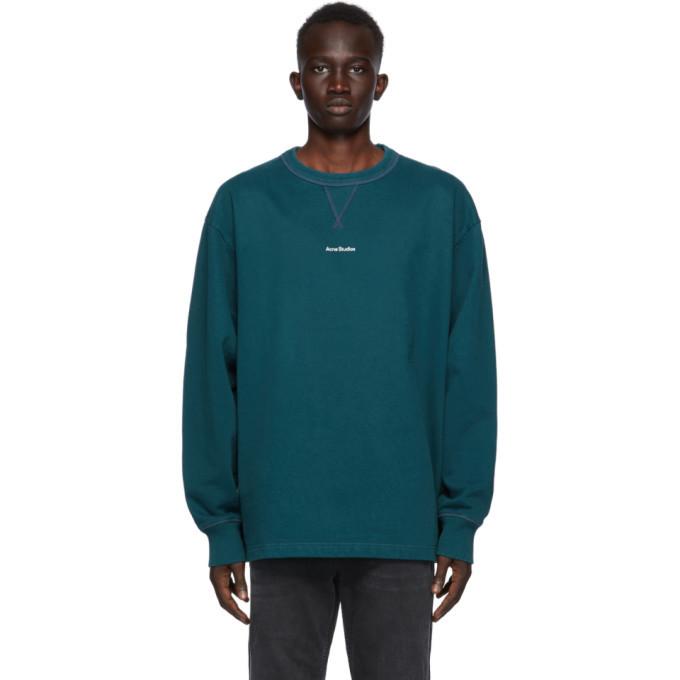 Photo: Acne Studios Green Logo Fleece Sweatshirt