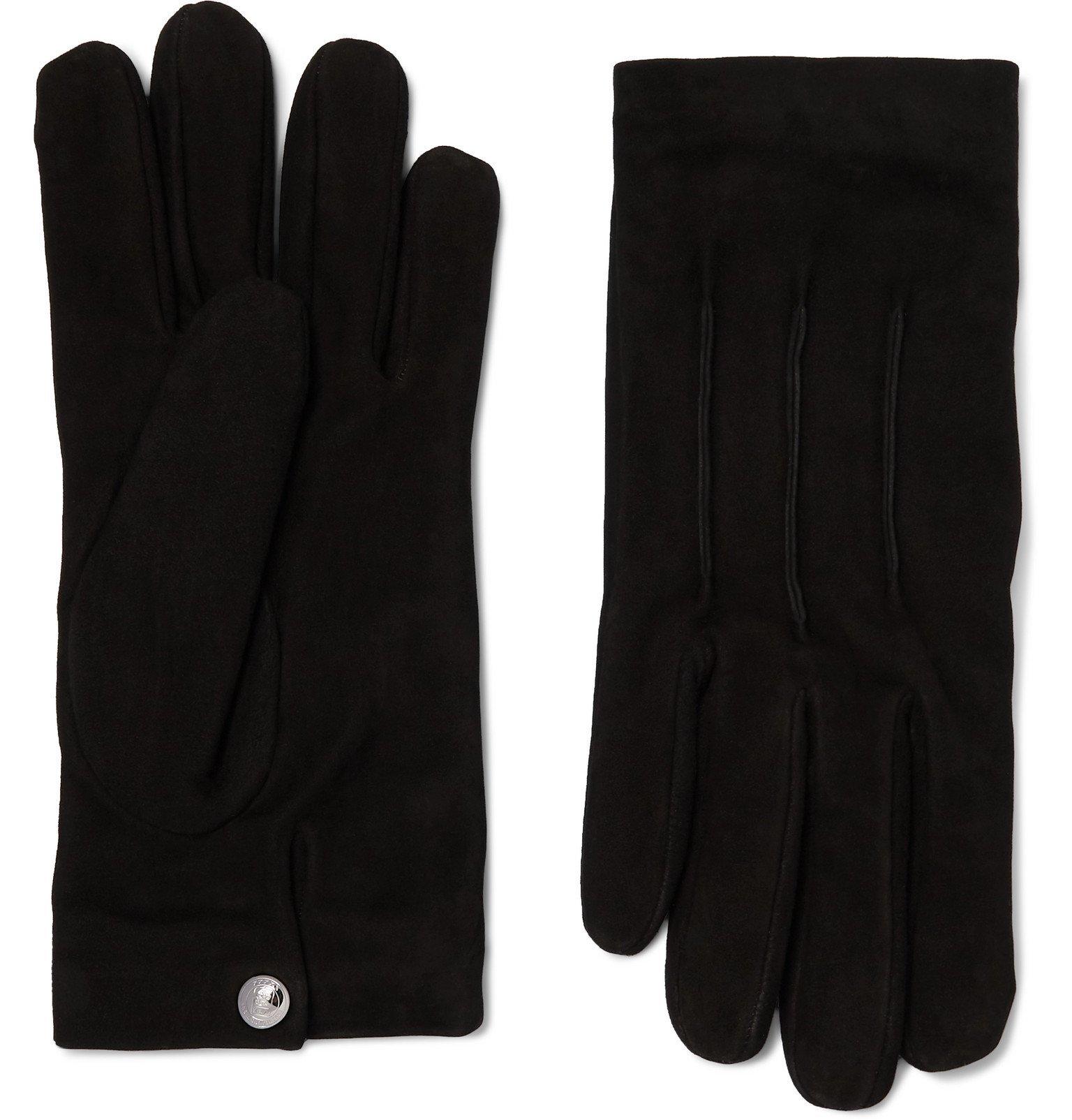 Photo: Ermenegildo Zegna - Cashmere-Lined Suede Gloves - Black