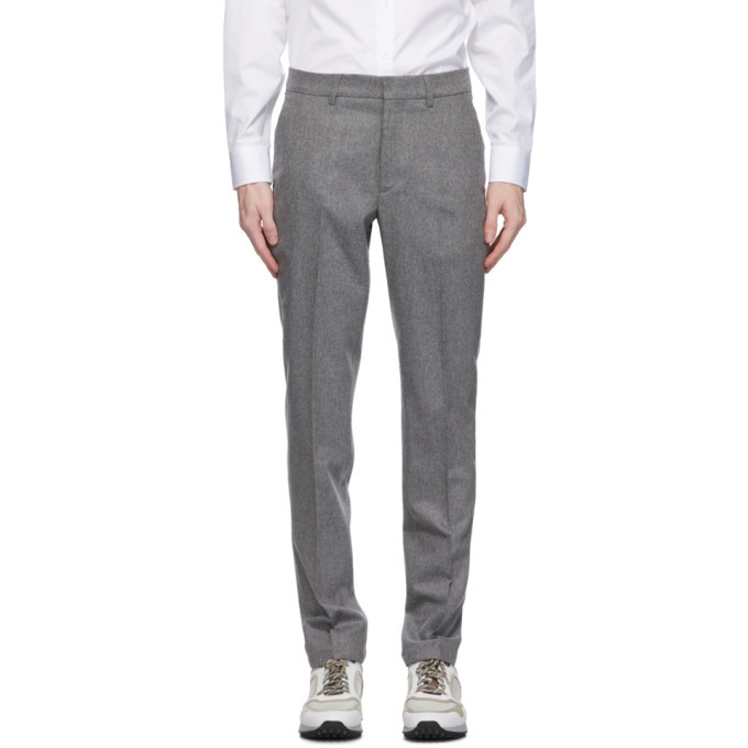 Photo: Dunhill Grey Wool Stretch Chinos