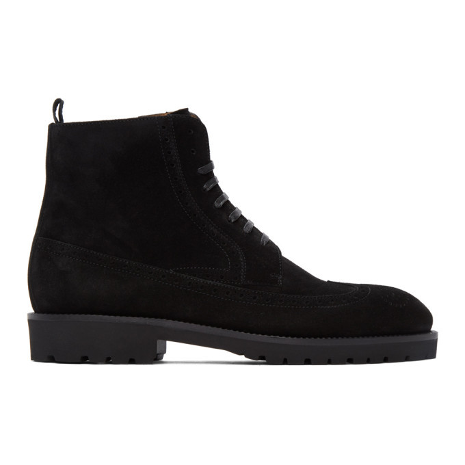 Photo: Boss Black Suede Edenlug Boots