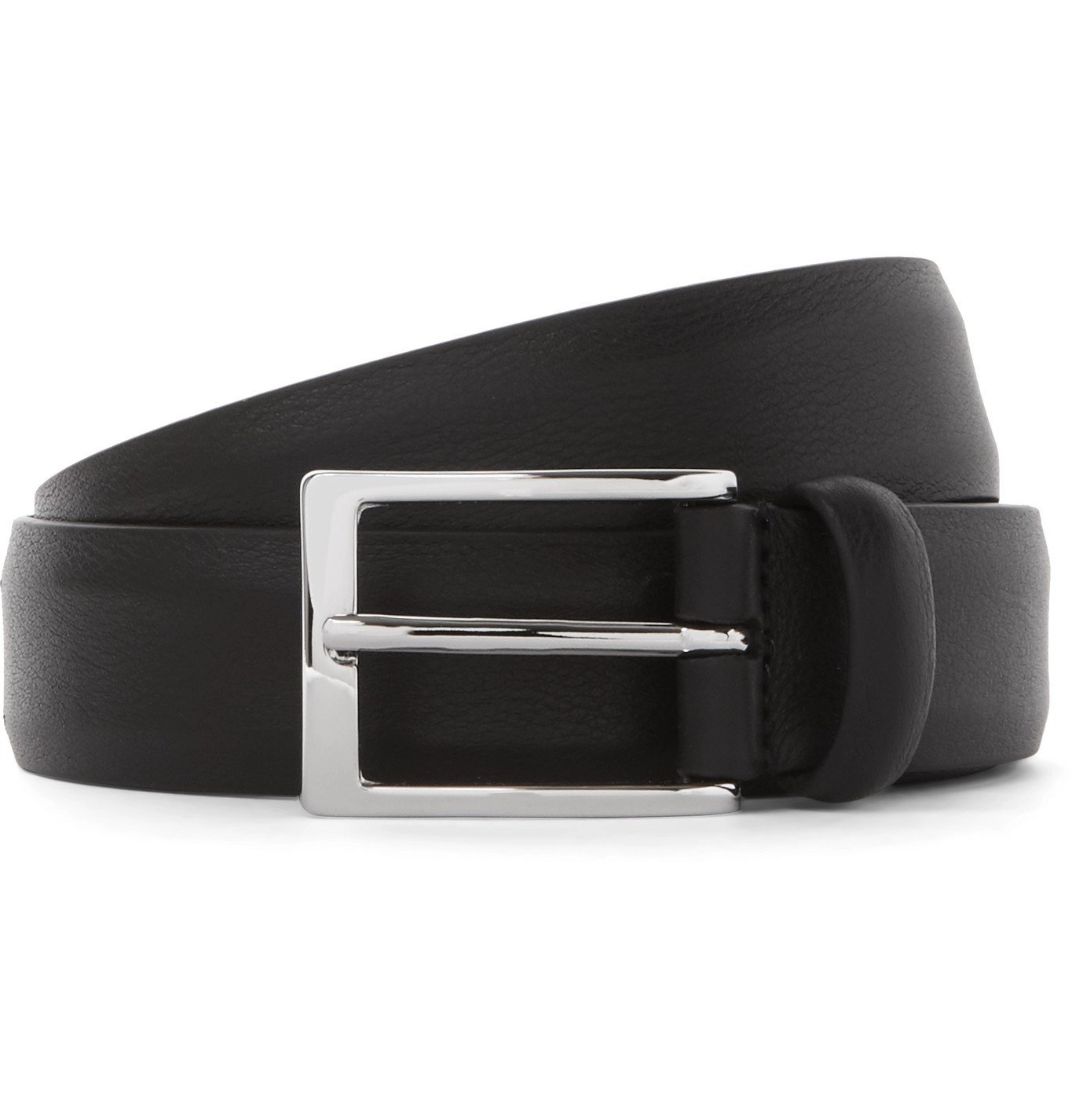 Photo: Anderson's - 3cm Black Full-Grain Leather Belt - Black