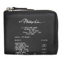 3.1 Phillip Lim Black Mini Receipt Zip Around Wallet