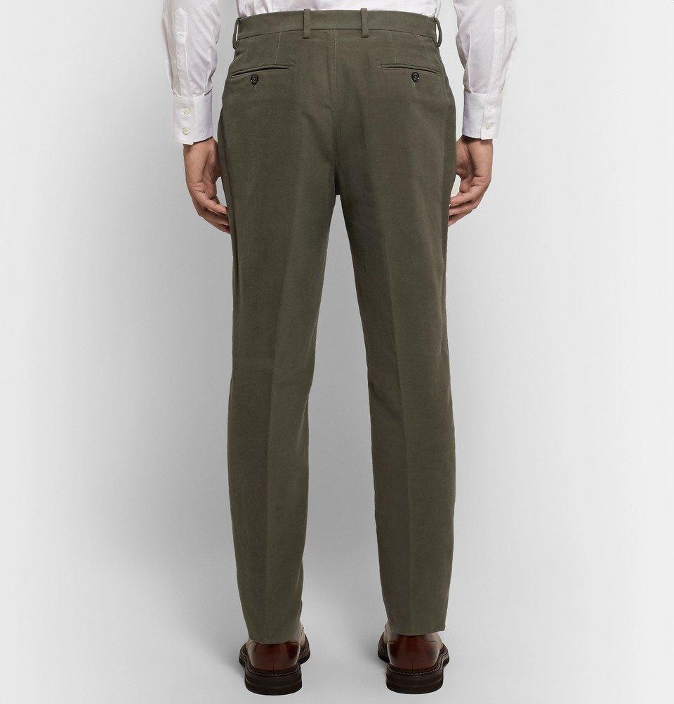 Tod's - Green Slim-Fit Cotton-Moleskin Suit Trousers - Men - Green
