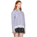 Sacai Blue and White Striped Poplin Shirt