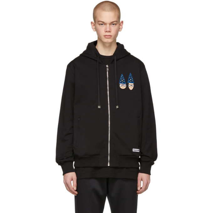 Photo: Dolce and Gabbana Black Magician DGFamily Zip-Up Hoodie