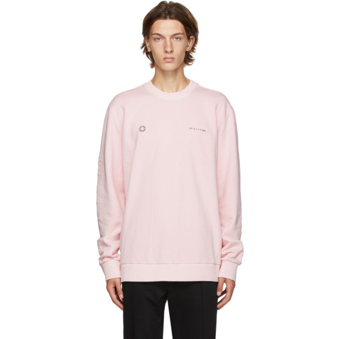 Photo: 1017 ALYX 9SM Pink Double Logo Sweatshirt