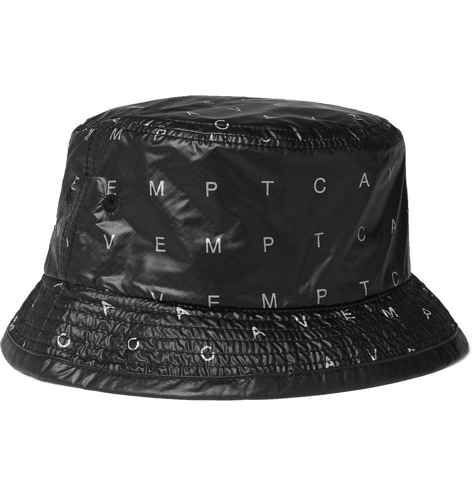 Photo: Cav Empt - Array Logo-Print Ripstop-Shell Bucket Hat - Black