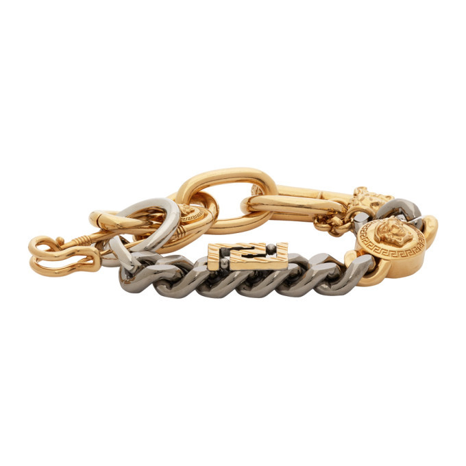 Photo: Versace Gold Charm Bracelet