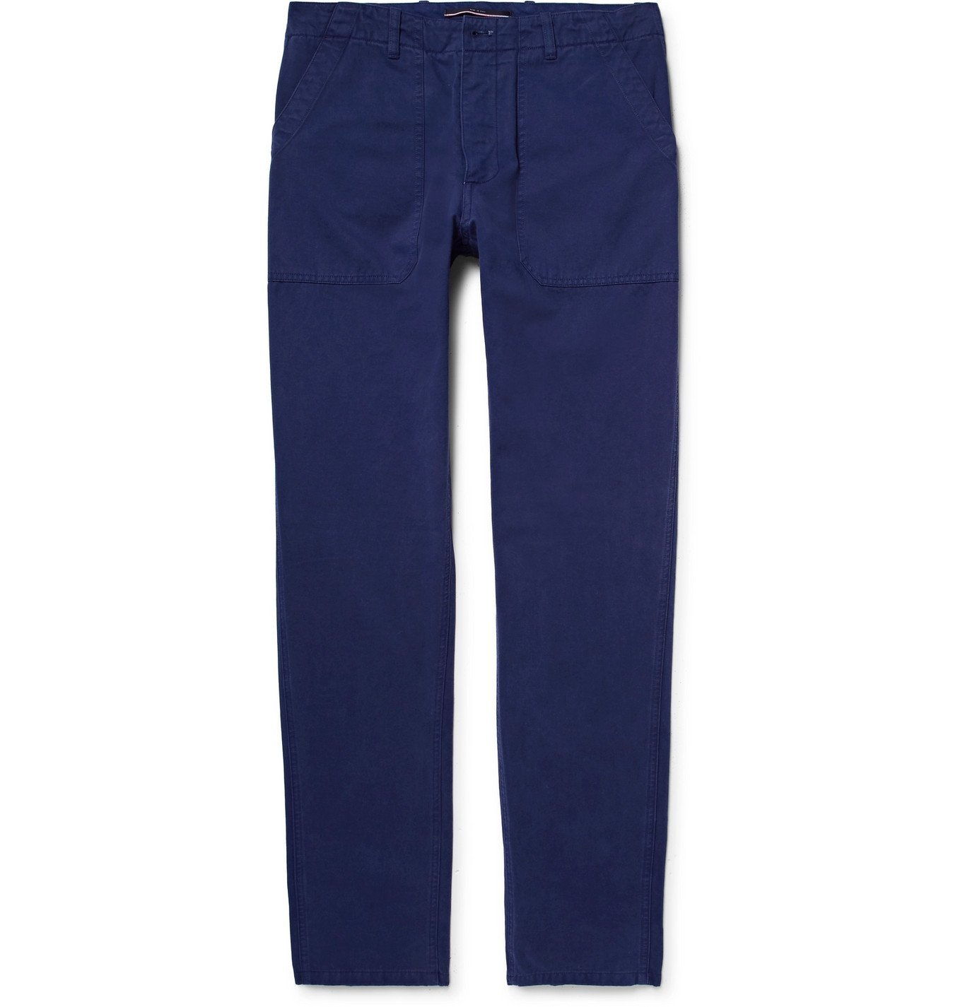 Photo: The Workers Club - Garment-Dyed Cotton-Twill Chinos - Blue
