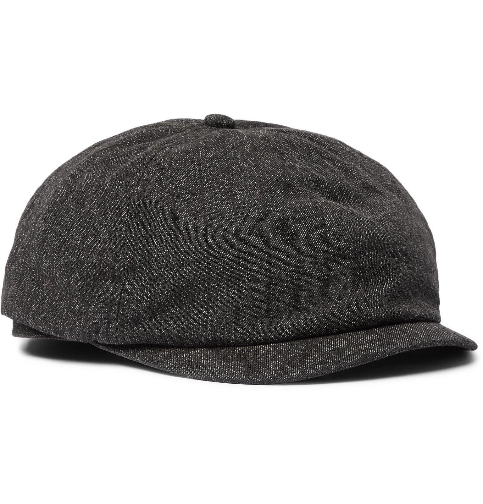 RRL - Cotton Flat Cap - Black