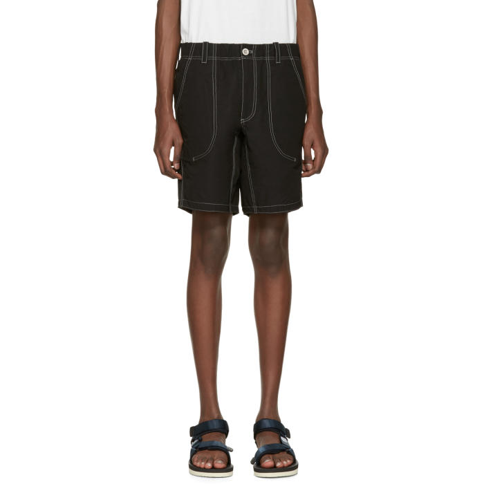 Photo: and Wander Black Contrast Stitch Shorts