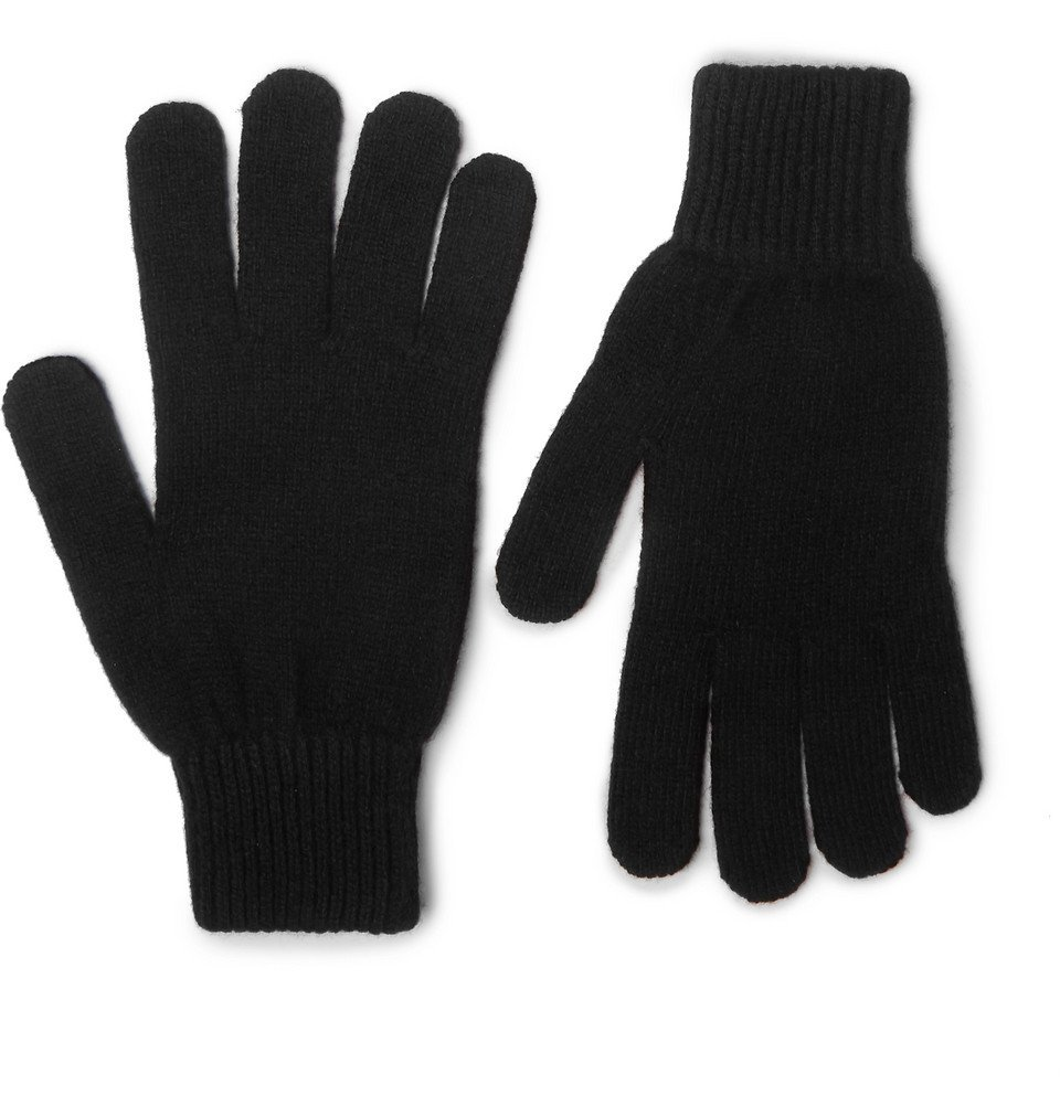 Photo: Paul Smith - Cashmere and Wool-Blend Gloves - Men - Black