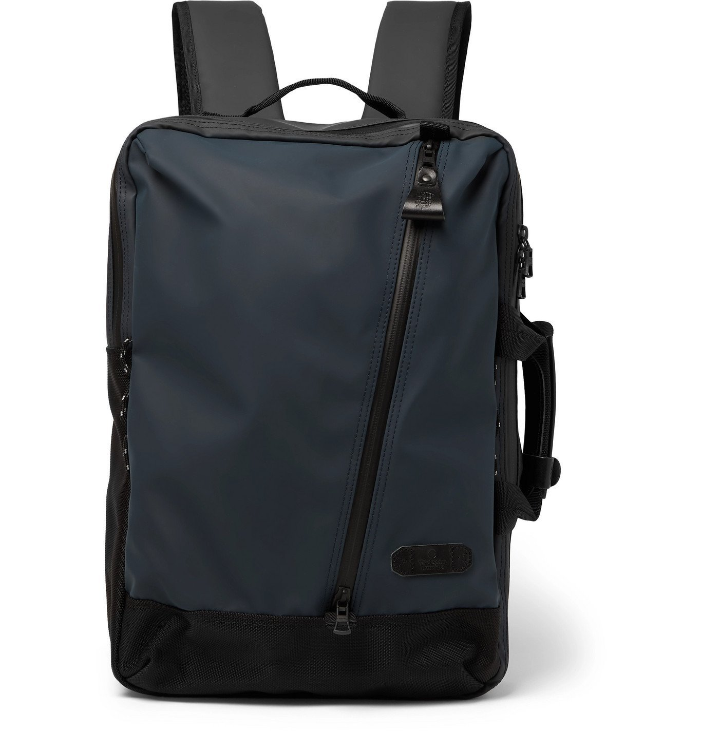 Photo: Master-Piece - Slick Series CORDURA-Trimmed Coated-Shell Backpack - Blue