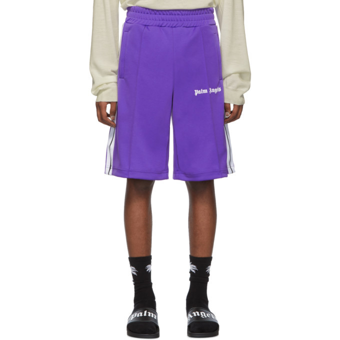 Photo: Palm Angels Purple Track Shorts