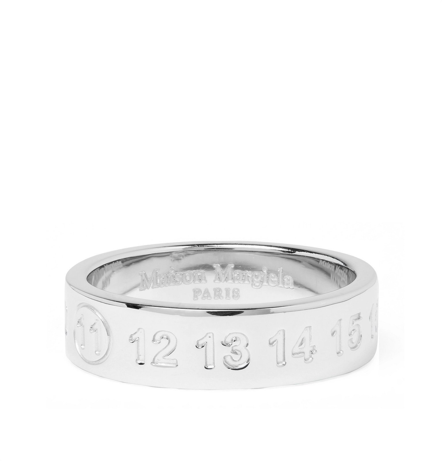 Photo: Maison Margiela - Engraved Sterling Silver Ring - Silver