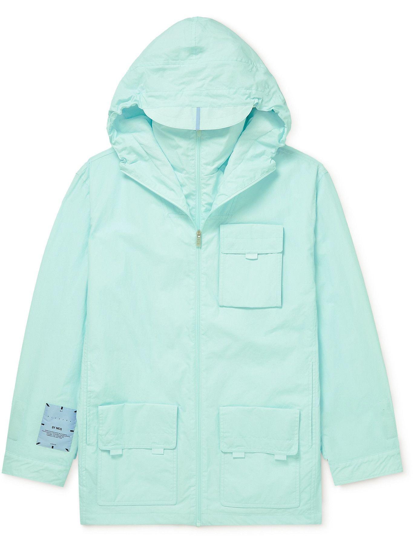 Photo: MCQ - UV Reactive Tech-Canvas Hooded Jacket - Blue
