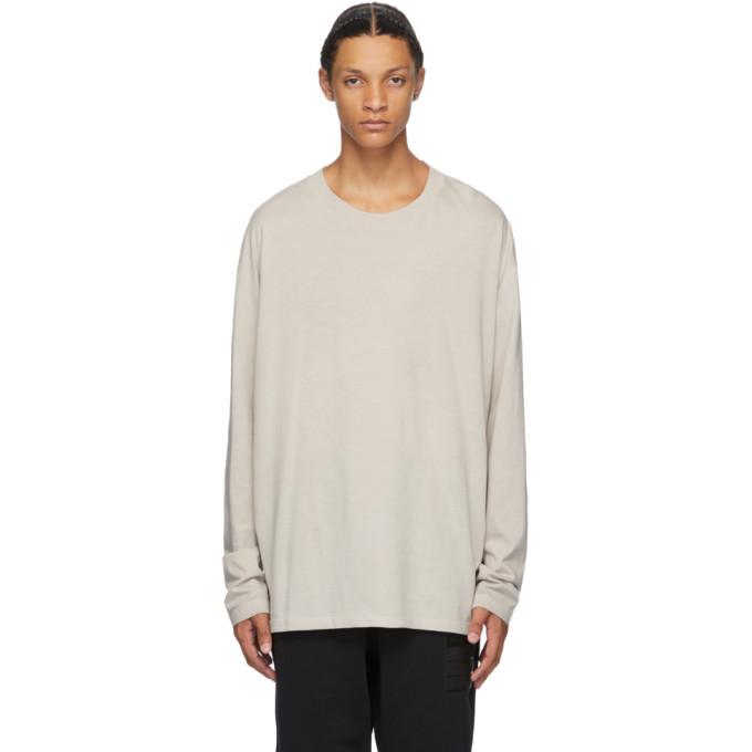 Photo: Maison Margiela Off-White Oversize Garment Dye Long Sleeve T-Shirt