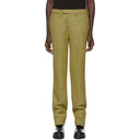 Raf Simons Yellow Houndstooth Wool Slim Trousers