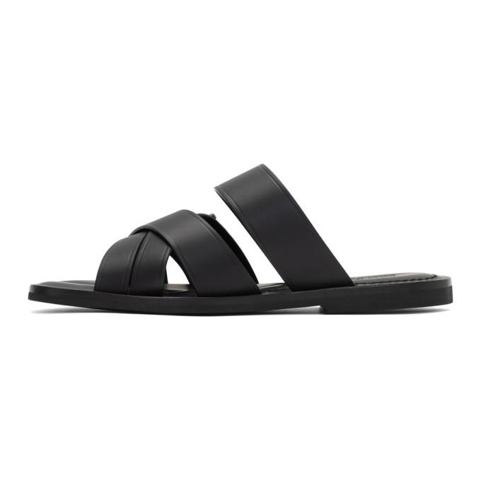 Salvatore Ferragamo Black Atina Sandals